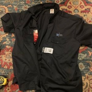 Dickies 2XL original fit button up shirt sleeve